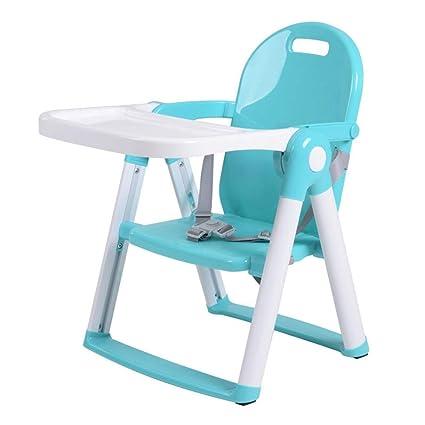 Silla alta portátil para niños con bandeja Silla plegable ...