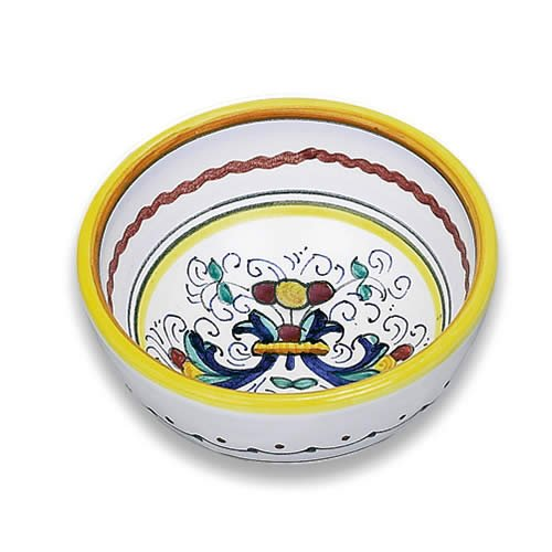(Arte D'Italia Imports Handmade Ricco Deruta Hand Painted Mini Bowl From Italy )