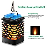 TomCare Solar Lights Solar Lanterns Dancing Flame Outdoor Hanging Lanterns Lights Decoration Lighting Solar Powered Waterproof Umbrella Lanterns Night Light Auto Sensor for Garden Patio Yard (2)