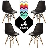 Set di 4 sedie Tower Wood Sedia IMS Nero - (Scegli un colore)) SKLUM