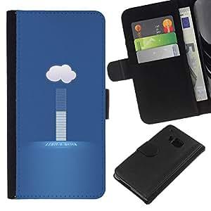NEECELL GIFT forCITY // Billetera de cuero Caso Cubierta de protección Carcasa / Leather Wallet Case for HTC One M7 // nube tiempo hoy