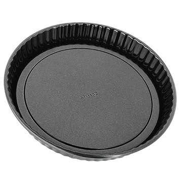 Stellar - Molde para flan Tin, base extraíble, 22 x 3 cm, color negro: Amazon.es: Hogar