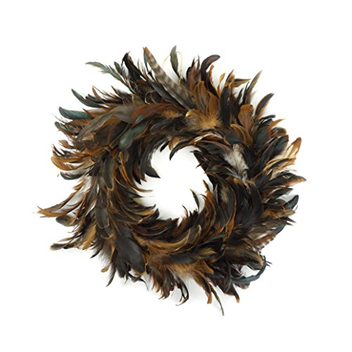 (Natural Schlappen Feather Christmas Wreath - 18