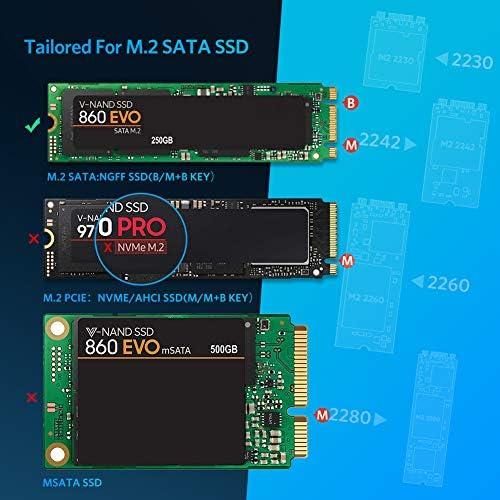 UGREEN Carcasa M.2 NGFF a USB C, Caja M.2 SATA 3.0 a USB C para B ...