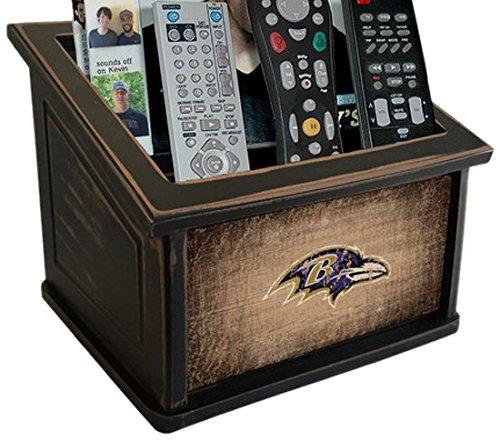 Fan Creations N0765-BAL Baltimore Ravens Woodgrain Media Organizer, Multicolored
