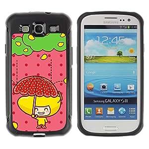 LASTONE PHONE CASE / Suave Silicona Caso Carcasa de Caucho Funda para Samsung Galaxy S3 I9300 / Cute Fruit Girl