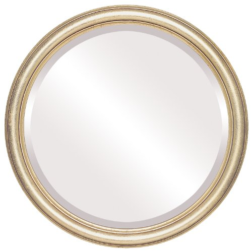 Round Beveled Wall Mirror for Home Decor - Saratoga Style - Gold Leaf - 20x20 outside dimensions