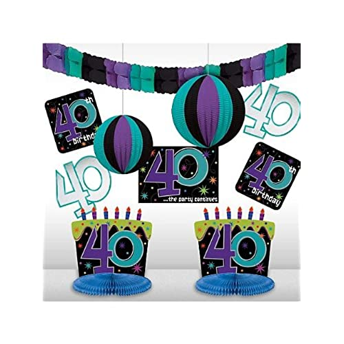 The Party Continuous 40th Birthday Party Assorted Room Decorating Kit Pack of 10 Multi 10.7  X 1.3   sc 1 st  Amazon.com & Party Decorations for 40th Birthday: Amazon.com