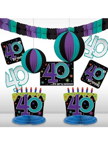 40th Celebration Decorating Kit, Birthday -