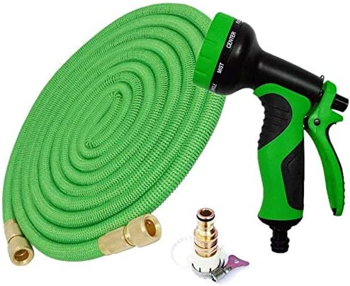 Flexible Magic Telescopic Hose High Pressure Car Wash Hose With Spray Gun Outdoor Garden Watering Expandable To 15 Meters After Water Injection