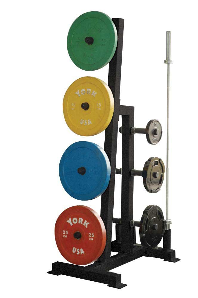 York Barbell Single Side Weight Tree - Black by York Barbell