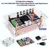 AUX TDA7492P 50W+50W Wireless Bluetooth 4.0 Audio Digital Amplifie+Case Kit US
