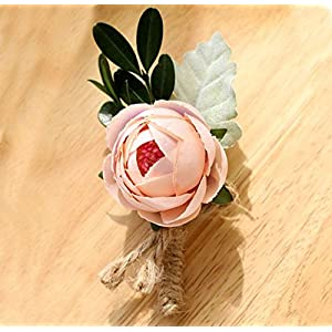 Jackcsale Bridegroom Boutonniere Groom Men's Boutonniere Boutineer with Pin for Wedding Prom Homecoming Pack of 4 58