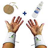 Premium Conductive Electrode Cuffs Pair for TENS Pain Treatment, Earthing & Electrotherapy of of Pain, Swelling, Discomfort, Carpal Tunnel, Arthritis, etc. (1 PAIR - Silver Thread – Universal One Size Fits All)