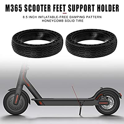 FOLOU Electric Scooter Replacement Wheels Solid Never Flat Tires for Xiaomi M365, Solid Tire Replacement for Electric Scooter gotrax gxl V2, 8.5 inches Scooter Wheel's Replacement(2 Tires) Black : Sports & Outdoors
