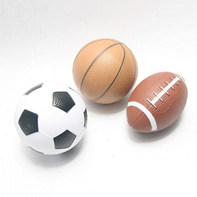 0Miaxudh - Mini balón Hinchable de Goma para Rugby, Baloncesto ...