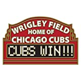 Chicago Cubs Wrigley Field Cubs Win! Cloisonne Pin
