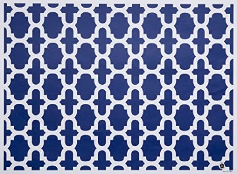 Amazon Com Di Potter Ch108 Nantucket Pattern Reversible Paper Placemat Navy Blue 12 X 16 1 4 Pack Of 24 Industrial Scientific