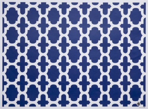 di Potter CH108 Nantucket Pattern Reversible Paper Placemat,