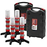 Twinkle Star Emergency Roadside Flares Kit LED Safety Strobe Road Warning Light Highway Beacon Alert Flare with Magnetic Base, Detachable Stand, Solid Storage Case (Set of 4)