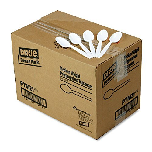Plastic Cutlery  Mediumweight Teaspoons  White  1000 Carton By James River Group Dixie Food Service