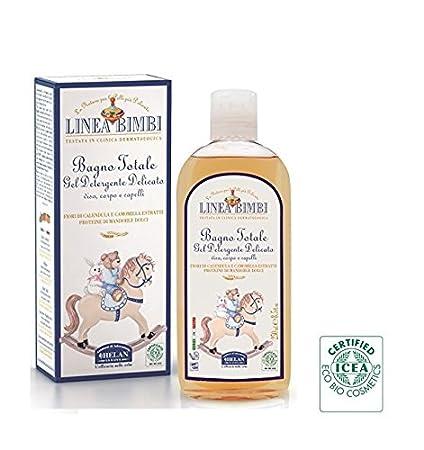 Linea Bimbi orgánico 2 en 1 Champú Para Bebés Body Wash para la piel sensible no