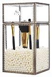 PuTwo Makeup Organizer Brush Holder Vintage Laced Style Make up Brush Holder with Free White Pearls - Large