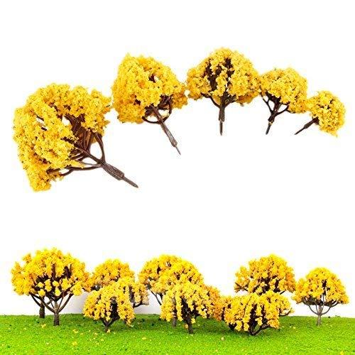 20 Multi Scale Model Trees, Train Railroad Diorama Wargame Autumn Scenery, Model Trees Train Railways Architecture Landscape Scenery Scale