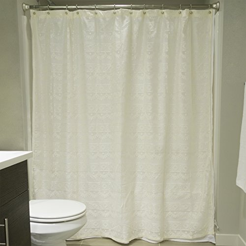 DII Everyday Polyester Curtains Off White