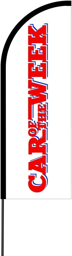 17 The Curbie Flex Feather Flag Banner Pole Kit Business and Store Sign AQ-JDIU-VV3U