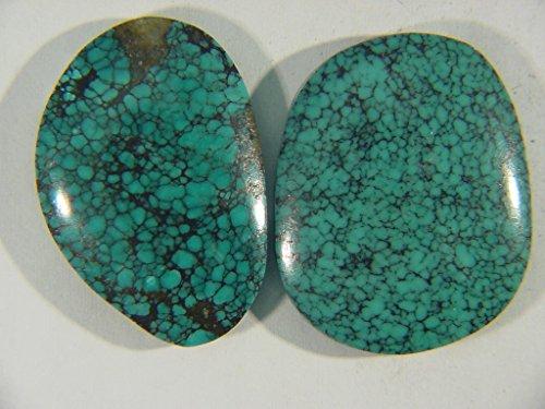 Genuine Natural Chinese Turquoise Lapidary Freeform Cabochon 9524C (Green Freeform Turquoise Pendant)