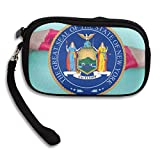 Coat Of Arms Of New York Deluxe Printing Small Purse Portable Receiving Bag