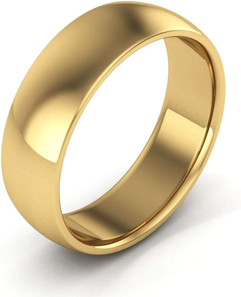 Womans Traditional Wedding Band Ring in 14K Yellow Gold