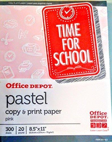 Office Depot Pastel Copy & Print Paper 300 Sheets (PINK)