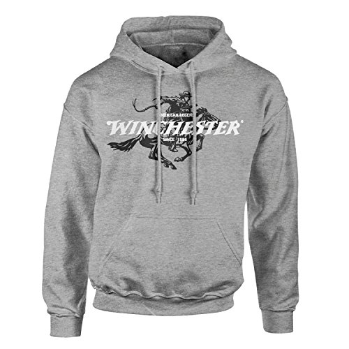 Winchester Official Legend Rider Men's Fleece Hoodie (XL, Sport Grey)