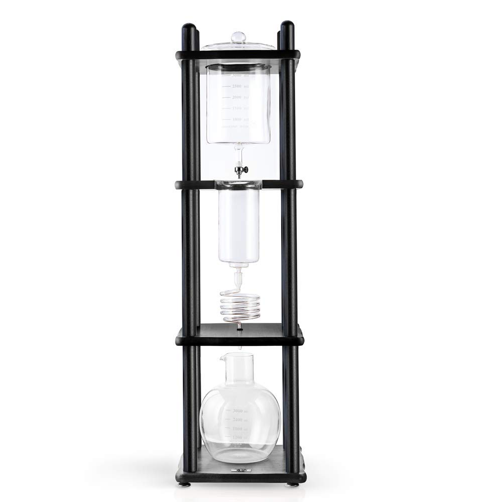 Yama Glass YAMCDM25SBK Drip Tower YAMA Cold Brew Coffee Maker 25 Cup Black