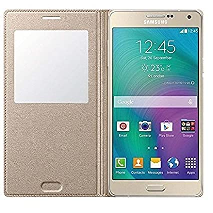 low priced d1227 0fb17 Helix Flip Cover for Samsung Galaxy A5 Duos Gold: Amazon.in: Electronics