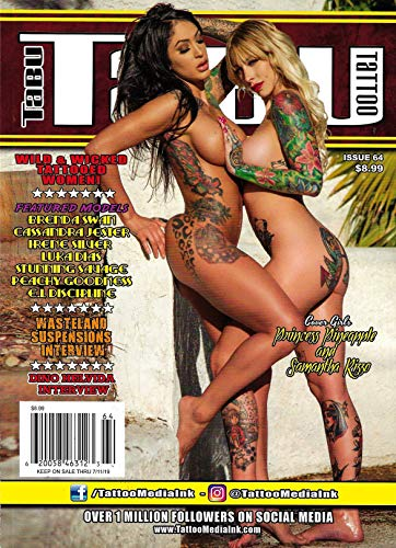 TABU TATTOO Magazine 2019 Issue 64 PRINCESS PINEAPPLE & SAMANTHA RIZZO Cover, Dino Helvida, Brenda Swan, E. L. Dicipline, Luka Dias
