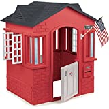 Red Cottage Playhouse For Kids With 2 Windows & Mailbox Indoor Outdoor Playhouses Childs House Cabin Toddler Playset Modern Playsets NEW