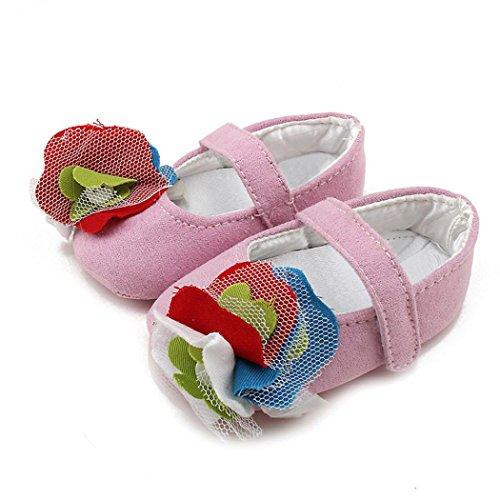 Tefamore Zapatos Calza los de bebé de la Zapatilla de deporte Suave de la muchacha del niño Rosa