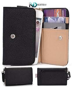 Samsung Focus Flash I677 Phone Wallet Cover Case (Black Noir) + ND Velcro Tie