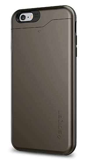 new product ed800 d9426 Spigen Slim Armor CS (Card Slot) Case Designed for iPhone 6S Plus / iPhone  6 Plus - Gunmetal SGP10910