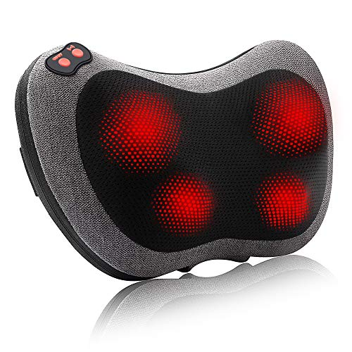 Papillon Back Massager with Heat,Shiatsu Back and Neck Massager with Deep Tissue Kneading,Electric Back Massage Pillow for Back,Neck,Shoulders,Legs, Foot,Body Muscle Pain Relief,Gift for Women Men