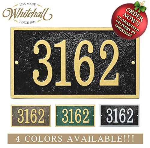 Metal Address Plaque Personalized Cast with Rectangle Shape. Four Colors Available! Custom House Number Sign. Order by 12PM PST, DEC. 16TH and GET IT for ()