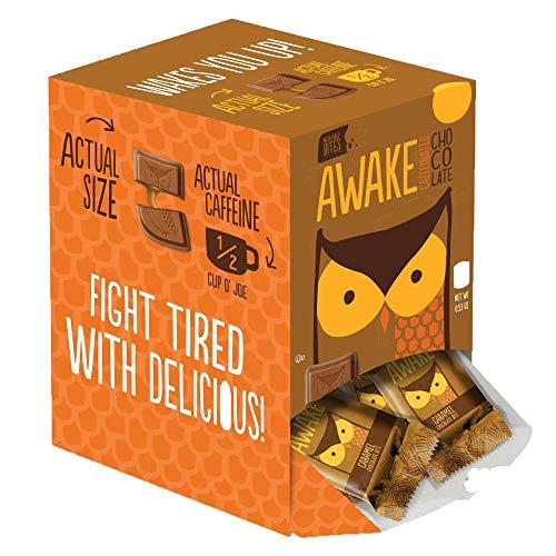 Awake Chocolate Caramel Chocolate Bites, 50 count,Pack of 1 by AWAKE Caffeinated Chocolate (Image #1)