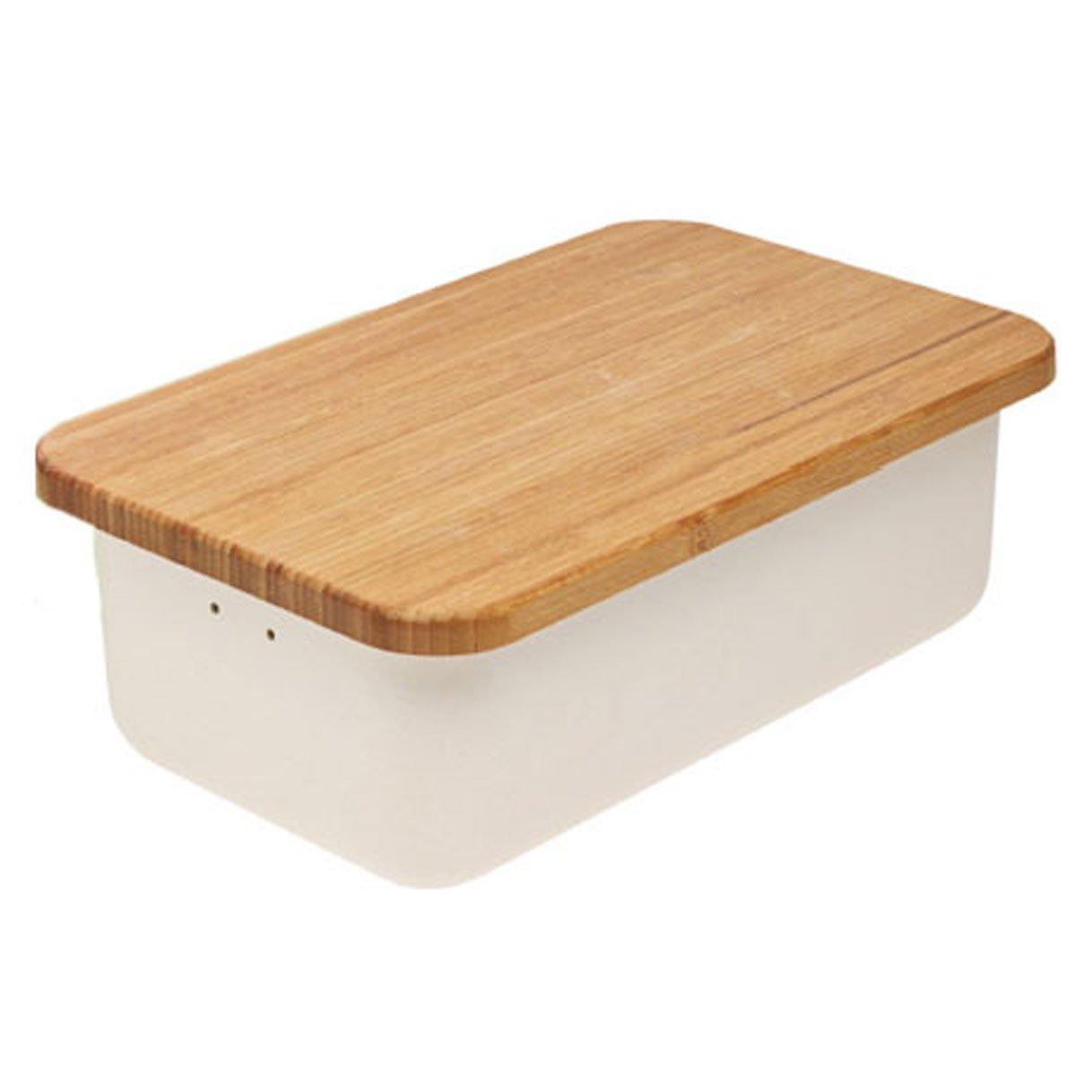 Brotkasten Design magu 135 675 brotkasten natur design grey amazon de küche