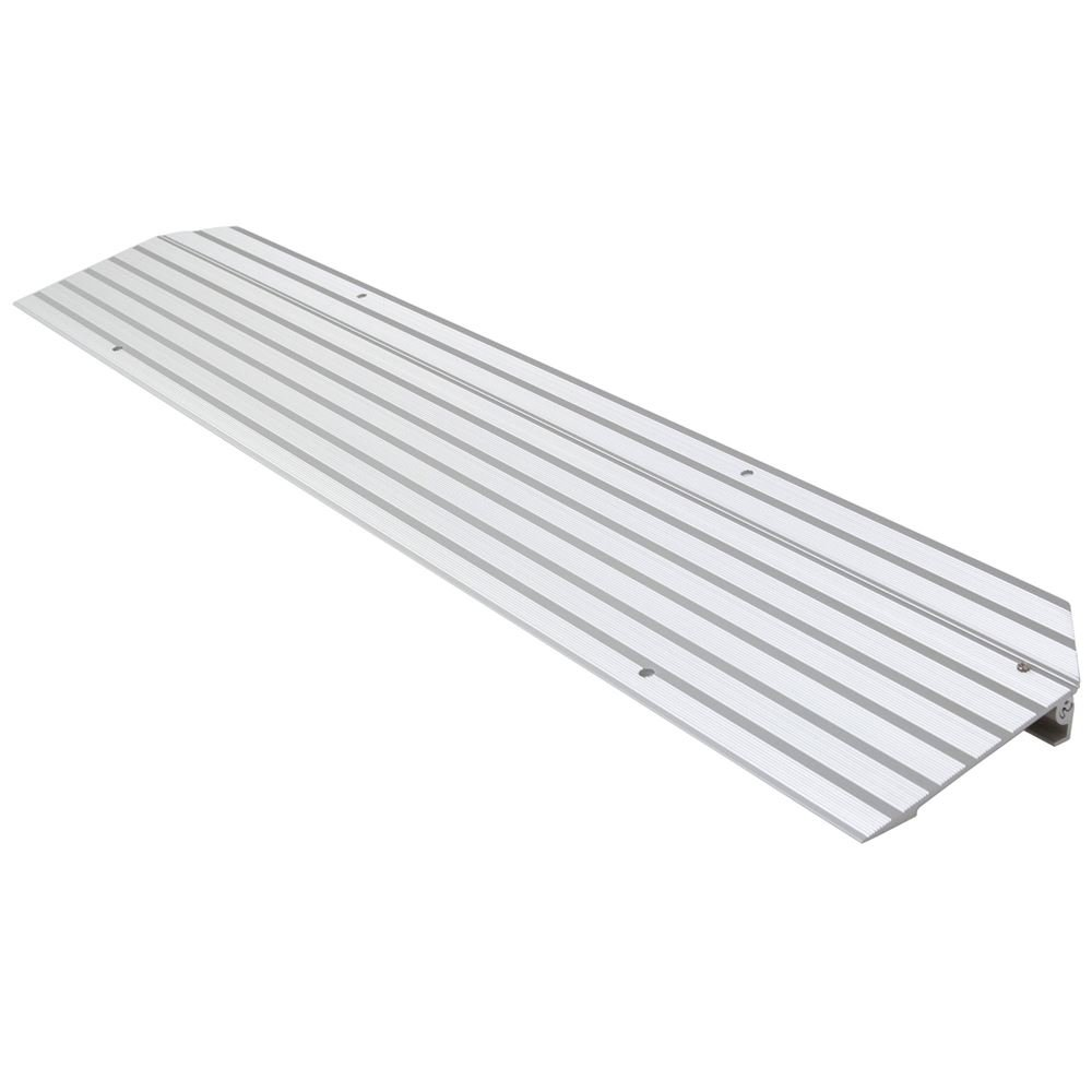 Silver Spring 1-1/4'' High Aluminum Mobility Threshold Ramp for Wheelchairs, Scooters, and Power Chairs