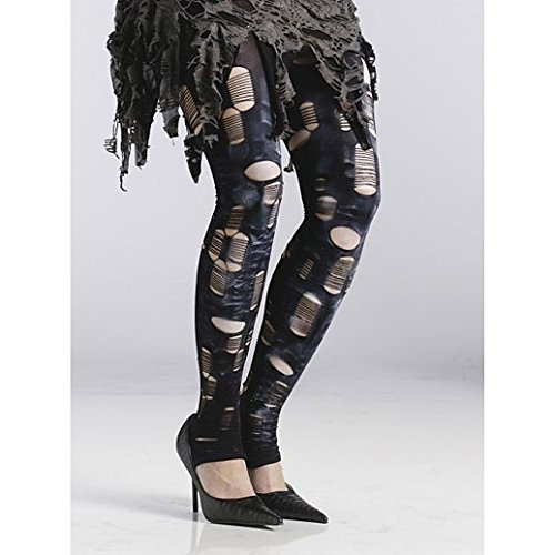 Fancy Face Paint Color Halloween Zombie Tattered Tights]()