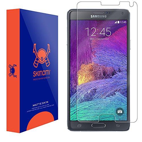 4 Screen Protector, Skinomi MatteSkin Full Coverage Screen Protector for Samsung Galaxy Note 4 Anti-Glare and Bubble-Free Shield ()