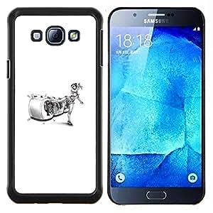 "Be-Star Único Patrón Plástico Duro Fundas Cover Cubre Hard Case Cover Para Samsung Galaxy A8 / SM-A800 ( Karate Mujer - Funny"" )"